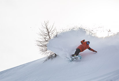 A big powder turn
