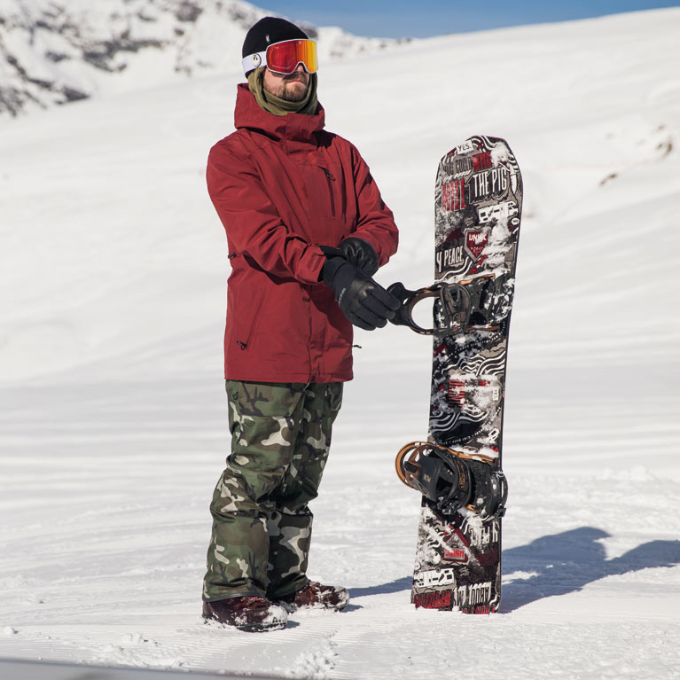 Snowboarder and Snowboard