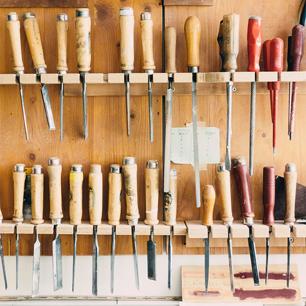 Workshop tool rack