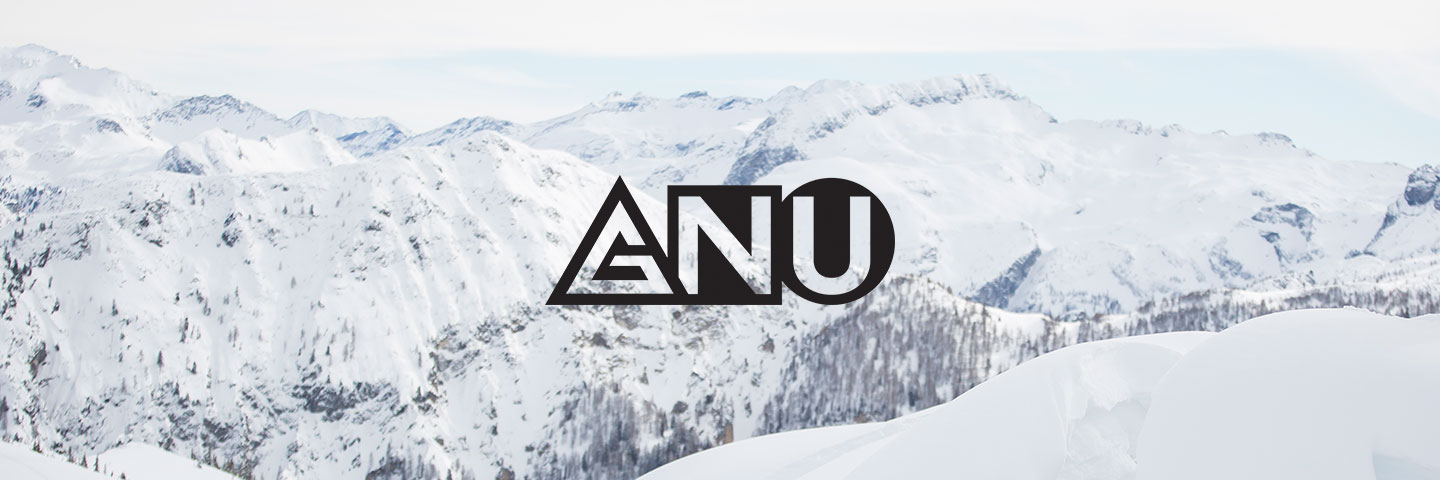 GNU logo with snow capped mountains in the background