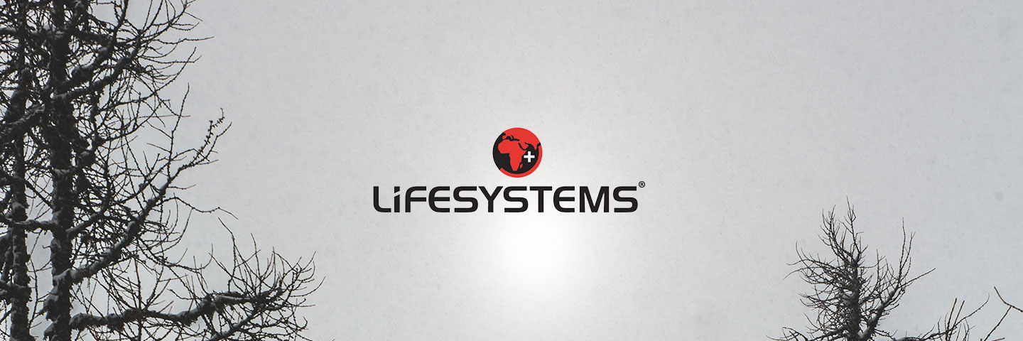 Lifesystems logo with cloudy sky in background