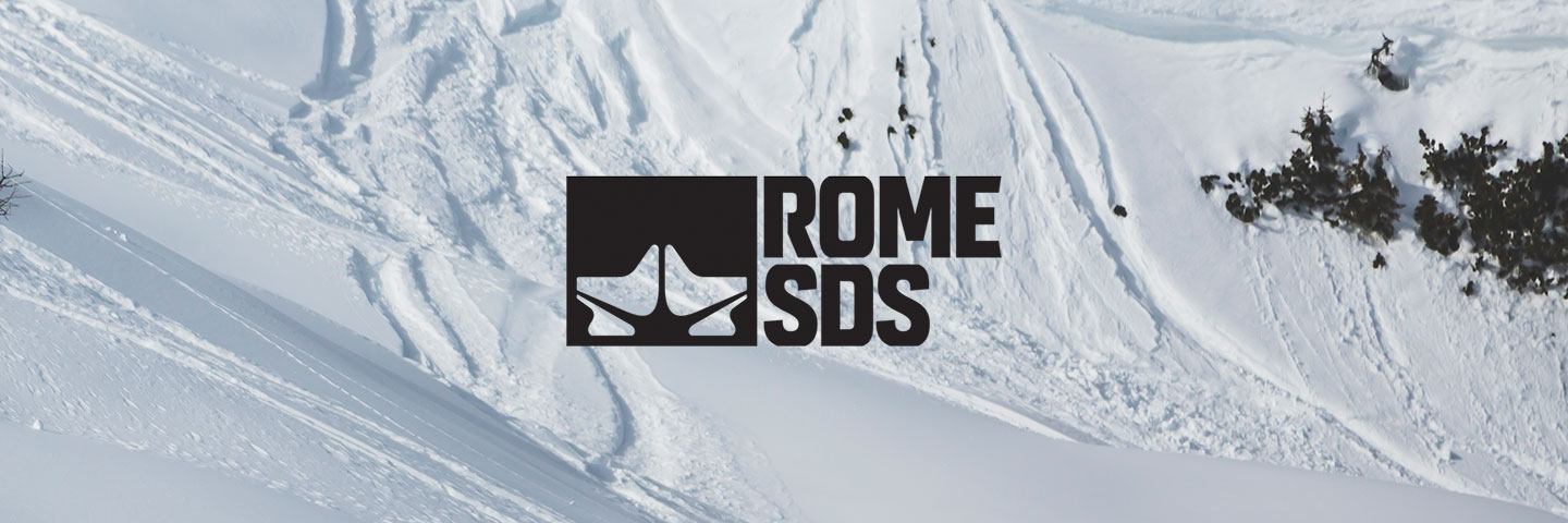 Rome logo with snowy background