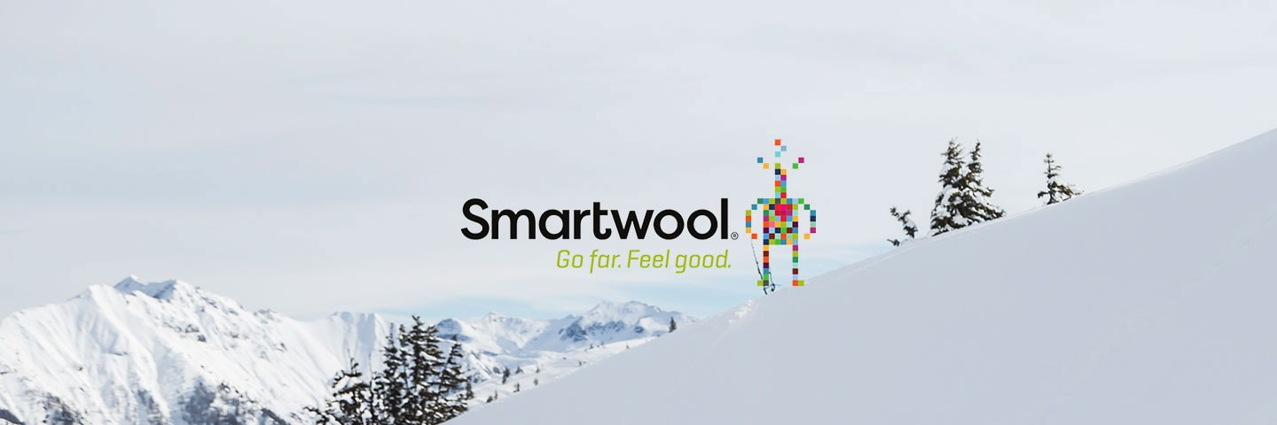 Smartwool logo with snowy mountain slope