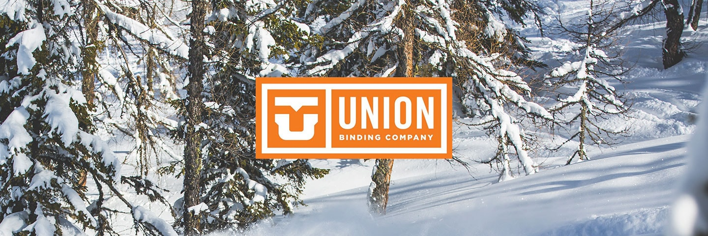 Union logo with snowy forest background