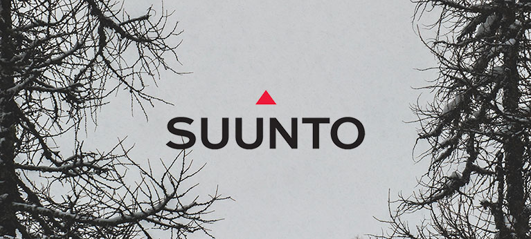 Suunto logo with grey skies in background