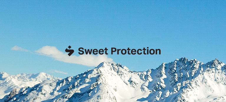 Sweet Protection logo with sky in background