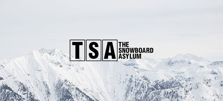 TSA Equipment logo with snow capped mountains in background