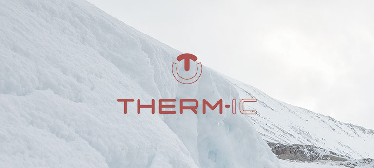 Therm-ic logo with snowy background