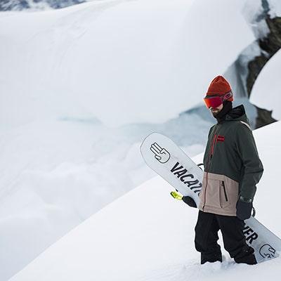 Snowboarder wearing Burton