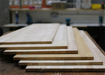 wood snowboard planks