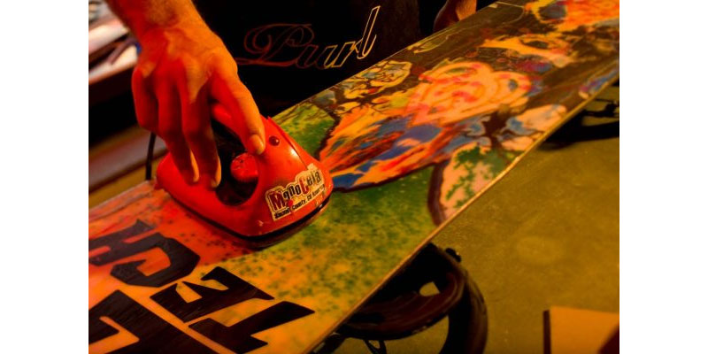 Wax Snowboard