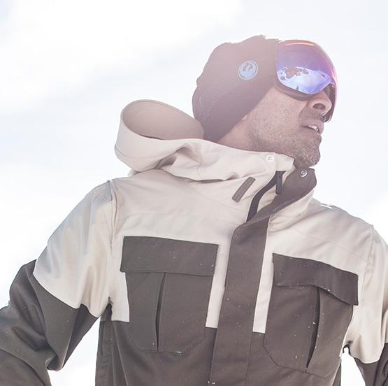 Man wearing Dragon Goggles